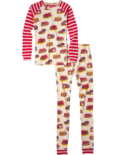 Vintage Tractors Raglan PJ Set (Toddler/Little Kids/Big Kids) Hatley Kids
