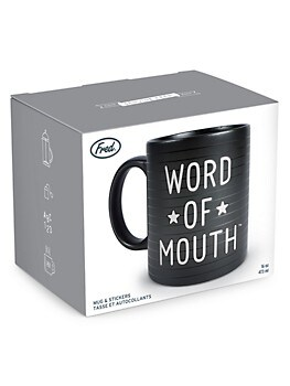 Word Of Mouth Letterboard Mug & Stickers Set Fred And Friends