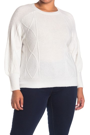 Crew Neck Balloon Sleeve Sweater (Plus Size) Sweet Romeo