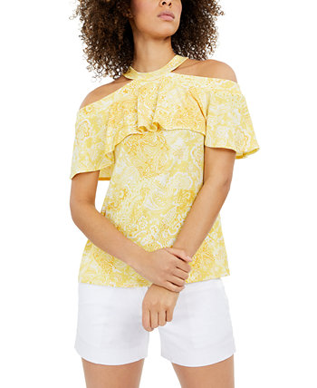 Flounce Off-The-Shoulder Top Michael Kors