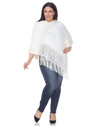 Plus Size Sansa Poncho White Mark