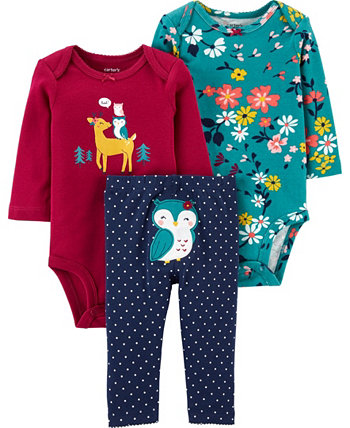Carters Baby Girl 3-Piece Owl Little Character Set Carters