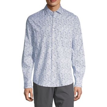 Long-Sleeve Printed Shirt Saks Fifth Avenue