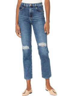 Jules High-Rise Straight in Finesse Destruct J Brand