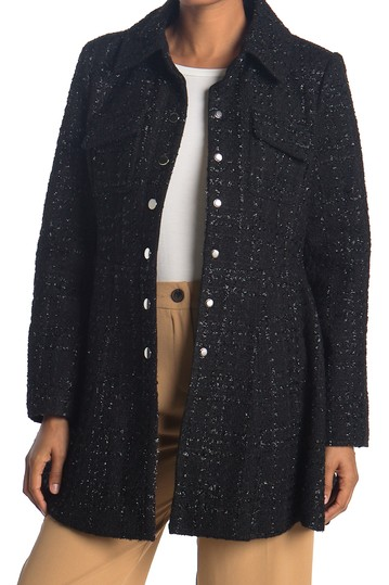 Collared Fit & Flare Coat  Laundry by Shelli Segal