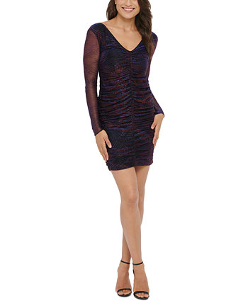 Metallic Ruched Bodycon Dress GUESS