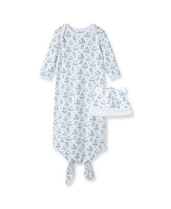 Baby Boys Boating Knot Gown Set Little Me