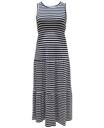 Petite Striped Maxi Dress, Created for Macy's Style & Co