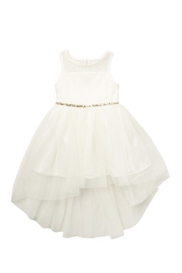 Sleeveless High Low Glitter Party Dress (Little Girls) Zunie