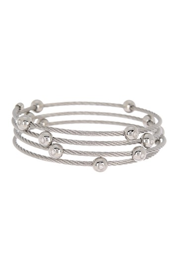 Stainless Steel Cascade Chain Bangle Bracelet ALOR