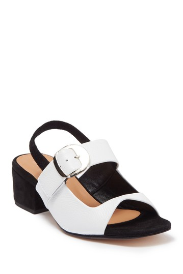 Tilt Leather Block Heel Sandal Rachel Comey