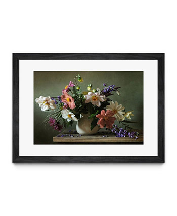 "Bouquet I Matted and Framed Art Print, 40"" x 30"" Giant Art"