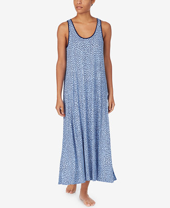 Printed Maxi Chemise Nightgown DKNY