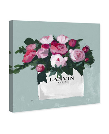 """Pink and Mint Bouquet Canvas Art, 36"""" x 36"""" Oliver Gal"""
