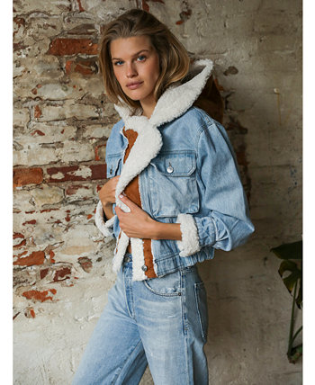 Perry Hooded Denim Jacket Free People