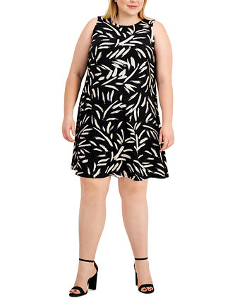 Plus Size Printed Dress Kasper