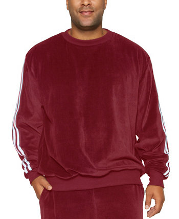 Mvp Collections Men's Big and Tall Velour Stripe Sweatshirt Mvp Collections By Mo Vaughn Productions