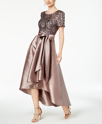 High-Low Sequin-Embellished Gown R & M Richards