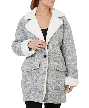 One-Button Fleece Coat Numero