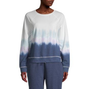 Tillie Tie-Dyed Cotton-Blend Sweatshirt Beach Lunch Lounge