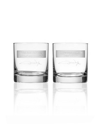 John Wayne Quotes Series 1 On The Rocks 11Oz - Set Of 2 Glasses Rolf Glass