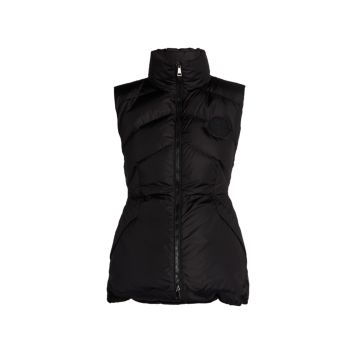 Ana Chevron Quilted Down Vest Moncler
