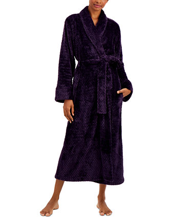 Plush Zigzag Long Cozy Wrap Robe, Created for Macy's Charter Club