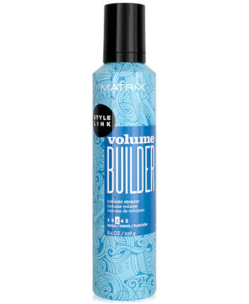 Style Link Volume Builder Mousse, 8.4-oz., from PUREBEAUTY Salon & Spa Matrix