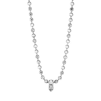 Sterling Silver Ball Chain Spike Pendant Necklace Emanuele Bicocchi