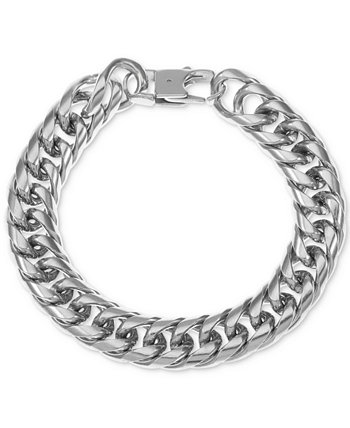 INC Men's Stainless Steel Chunky Curb Link Bracelet, Created for Macy's INC International Concepts