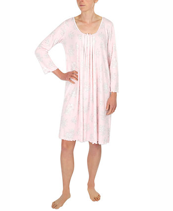 Etched Floral Short Knit Nightgown Miss Elaine