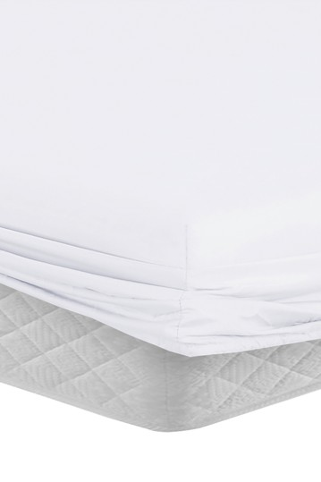 Manor Ridge Luxury 100gsm Brushed Microfiber Hypoallergenic Fitted Sheet - White - Queen Modern Threads