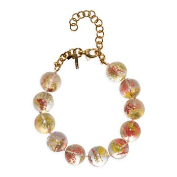 Dried Floral Beaded Necklace Lele Sadoughi