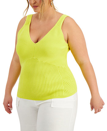 INC Plus Size Ribbed Tank Top, Created for Macy's INC International Concepts