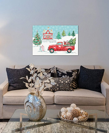 """Christmas In The Country II"" by Daphne Brissonnet Gallery-Wrapped Canvas Print (18 x 26 x 0.75) ICanvas"