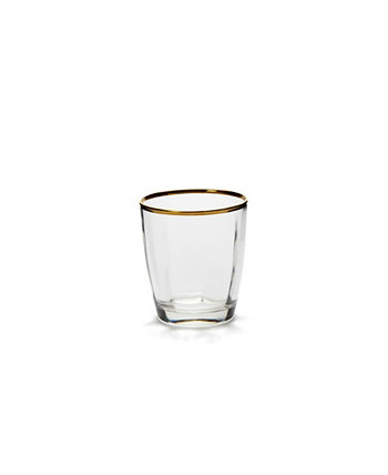 Optical Gold Double Old Fashioned Glass VIETRI