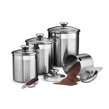 Gourmet 8 Pc Covered Canister & Scoop Set Tramontina