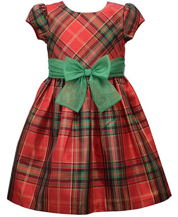 Little Girls Plaid Waistline Dress Bonnie Jean