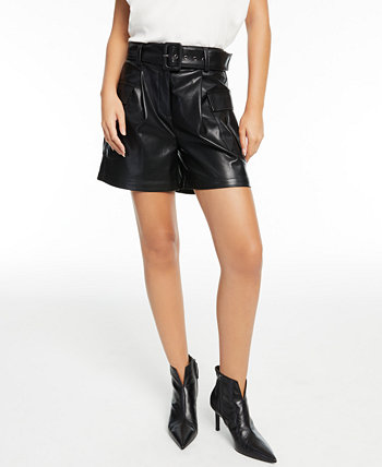 CULPOS x INC Belted Faux-Leather Shorts, Created for Macy's INC International Concepts