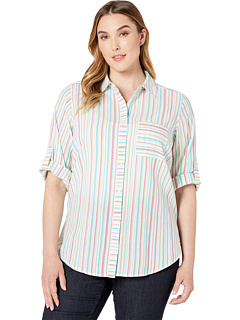 Plus Crinkle Multi Stripe FOXCROFT