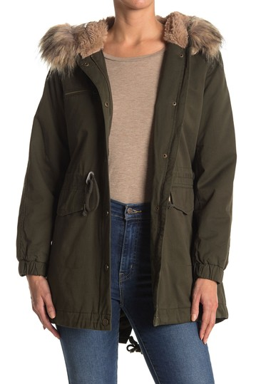 Faux Fur Trim Hooded Anorak Jacket Lucky Brand