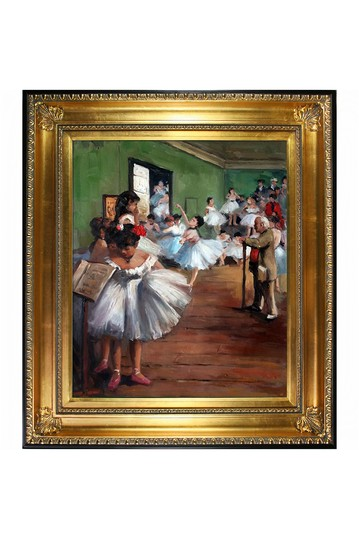 """The Dance Class with Regency Gold Frame , 28.5"""" x 32.5"""" No brands"""