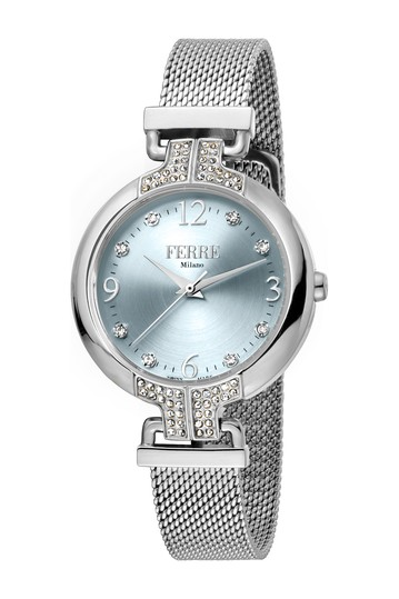 Women's Crystal Accented Mesh Bracelet Watch, 32mm Ferre Milano