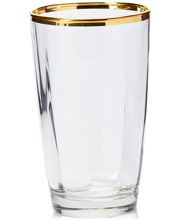 Optical Gold Highball Glass VIETRI