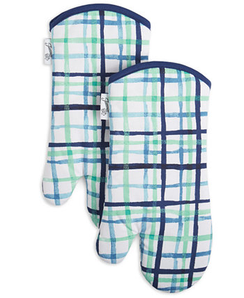 Watercolor Plaid Oven Mitts, Set of 2 FIESTA