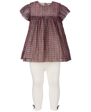 Baby Girls Sparkle Tulle Tunic & Leggings Set, Created for Macy's First Impressions