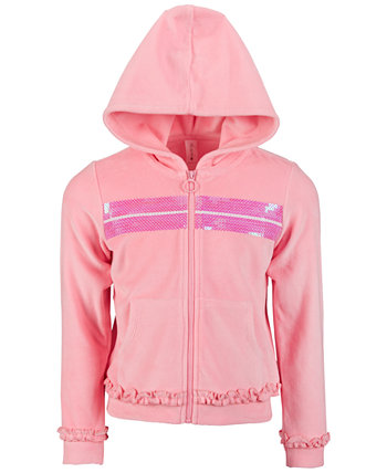 Little Girls Velour Sequin Zip-Up Hoodie, Created for Macy's Ideology