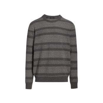 COLLECTION Stripe Contrast Stitch Cashmere Sweater Saks Fifth Avenue