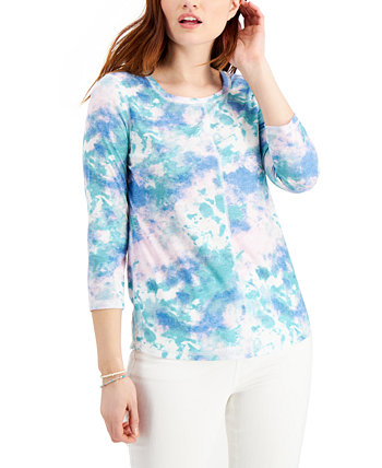 Tie-Dyed Top, Created for Macy's Style & Co