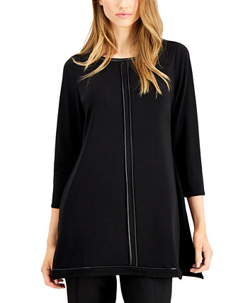 Piped-Detail Tunic Top, Created for Macy's Alfani